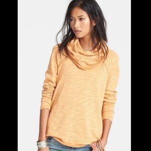Free people beach orange cocoon sweater